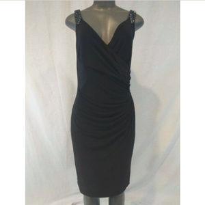 Ralph Lauren Dress Beaded Strap Black Sleeveless